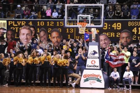 Single-game tickets for The University of Akron men's basketball team's ESPN2 contest against PNC Wagon Wheel Challenge opponent Kent State on Friday, March 8 at James. A. Rhodes Arena, are now on sale. Limited upper and lower reserved tickets remain, in addition to general admission seating, for the 7 p.m. ET matchup that concludes the regular season for both teams. General admission tickets are $15 while upper reserved tickets are $25 and lower reserved tickets are on sale for $35.