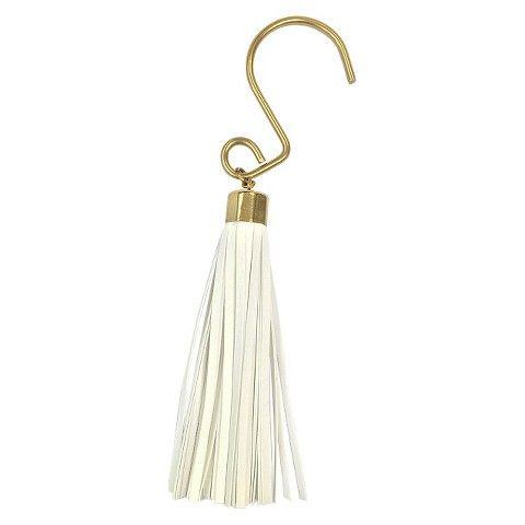 Nate Berkus Tassel Shower Hooks White Shower Curtain Decor