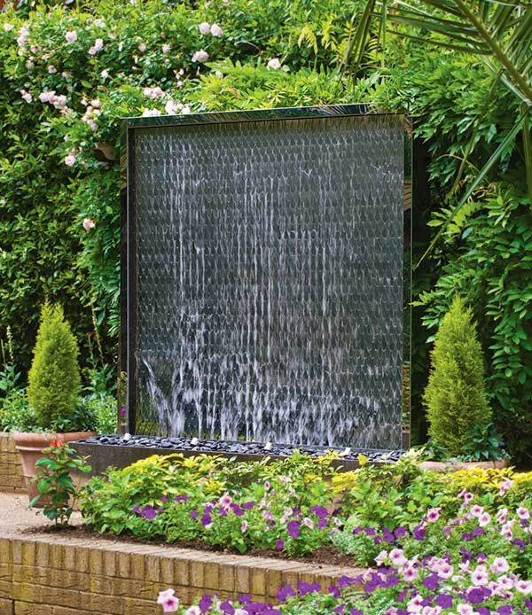 Outdoor wall water feature home ideas pinterest wall for Water wall plans