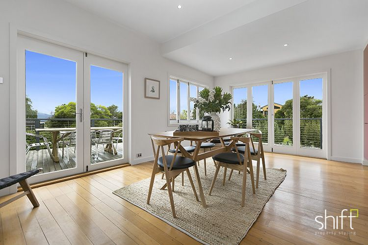 Large Family Dining Room, Timber Floor, Timber Dining Table With Timber And  Black Dining