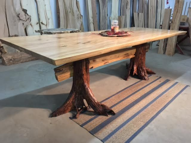 88e3111d4712 Live Edge Matched Elm Dining Table. Beautiful Salvaged Live Edge Dining  Table. Live Edge Furniture for sale at Ohio Woodlands. Jared Coldw