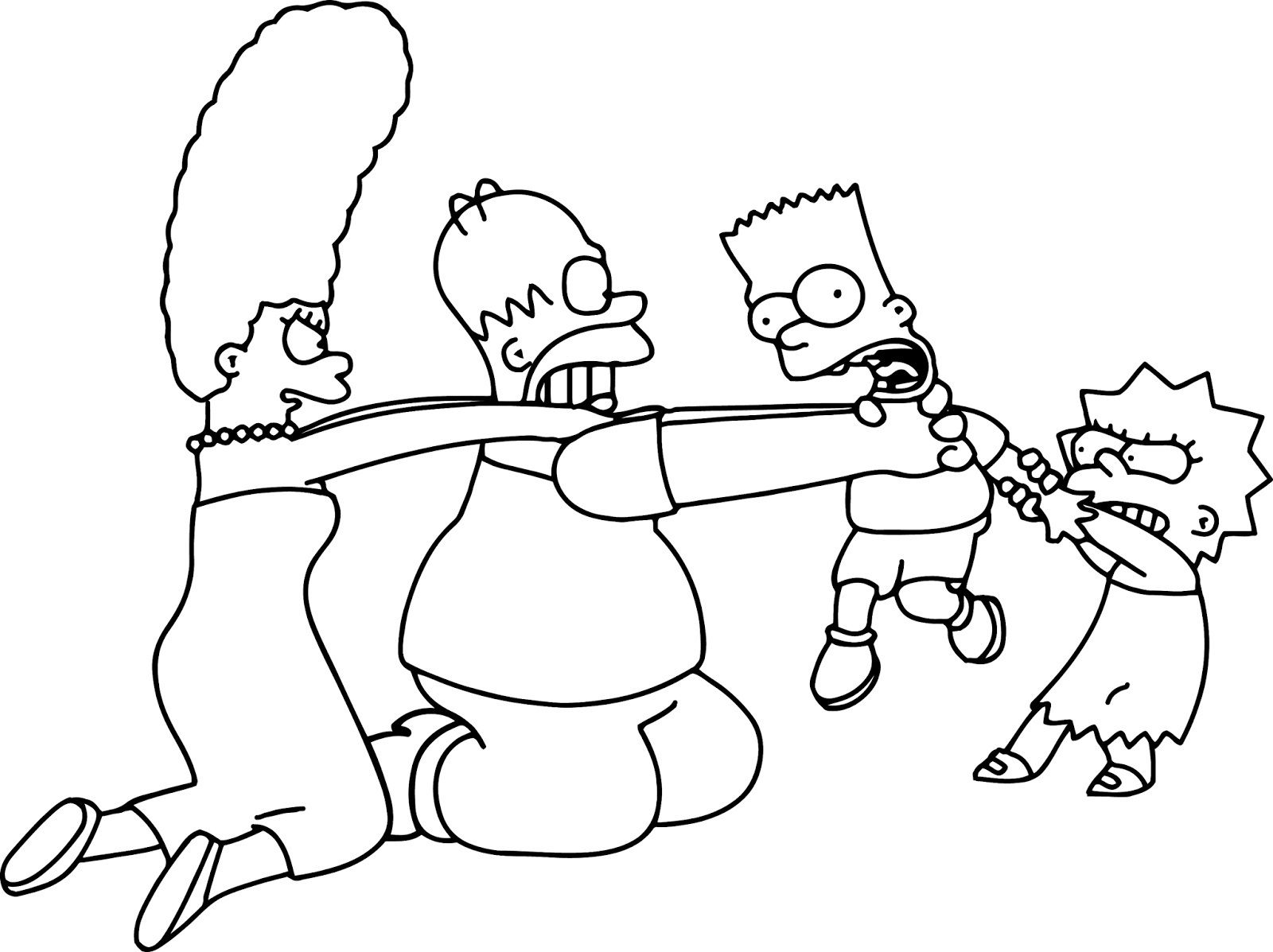 simpsons characters coloring pages  collection of
