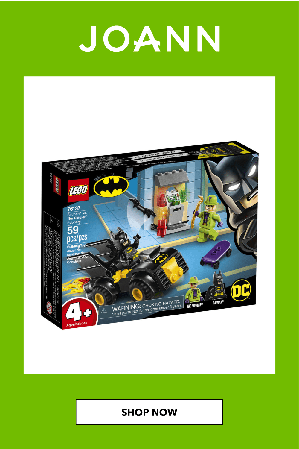 LEGO DC Batman 76137 Batman vs. The Riddler Robbery in