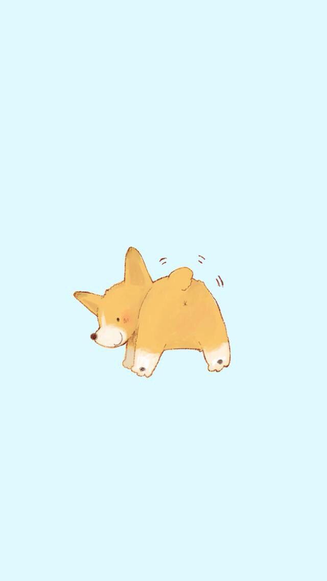 Cute Cartoon Corgi Tap To See More Cute Corgi Wallpapers Mobile9 Cartoon Corgi Wallpaper Cute Dog Wallpaper Dog Wallpaper