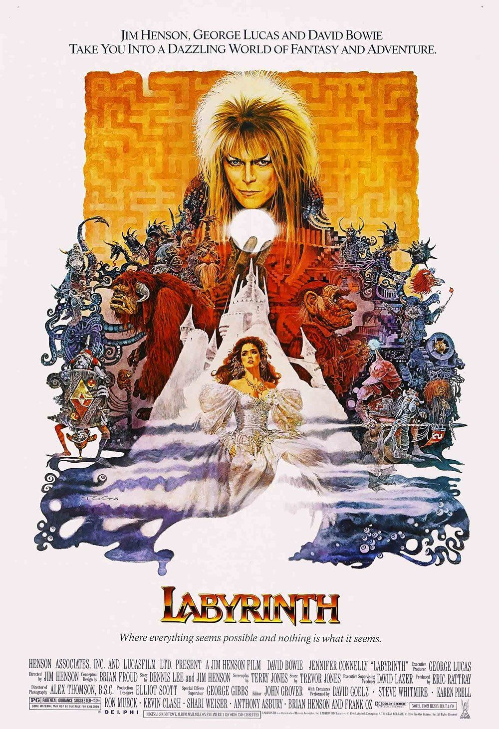Labyrinth film poster print labyrinth movie halloween