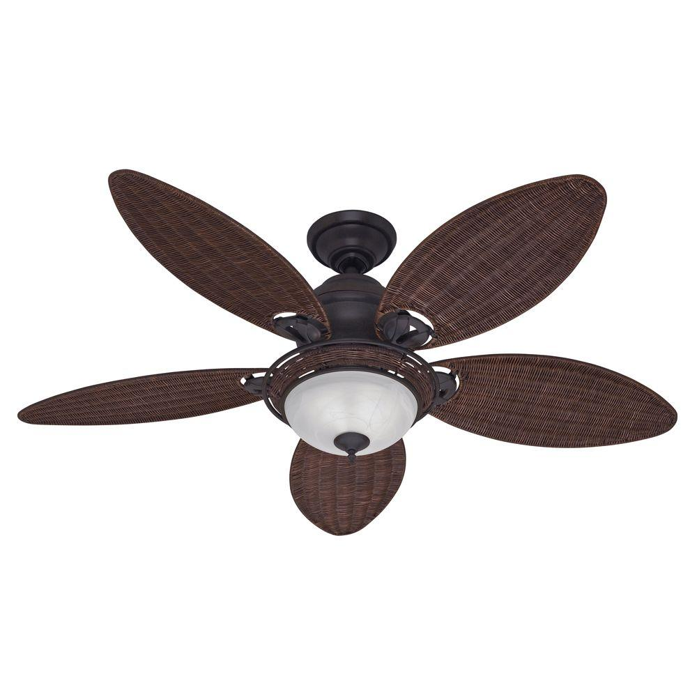 Hunter Caribbean Breeze 54 In Indoor Weathered Bronze Ceiling Fan With Light Kit