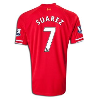 new arrival 7aa30 ab6cf Men's 2013/14 Liverpool Luis Suarez Soccer Jersey Price ...