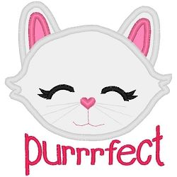 Purrrfect Kitty Applique - 3 Sizes! | What's New | Machine Embroidery Designs | SWAKembroidery.com Band to Bow