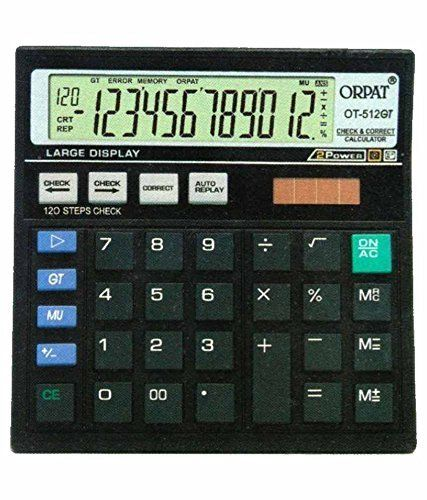 Orpat OtGt Calculator Black  Basic Calculators Office