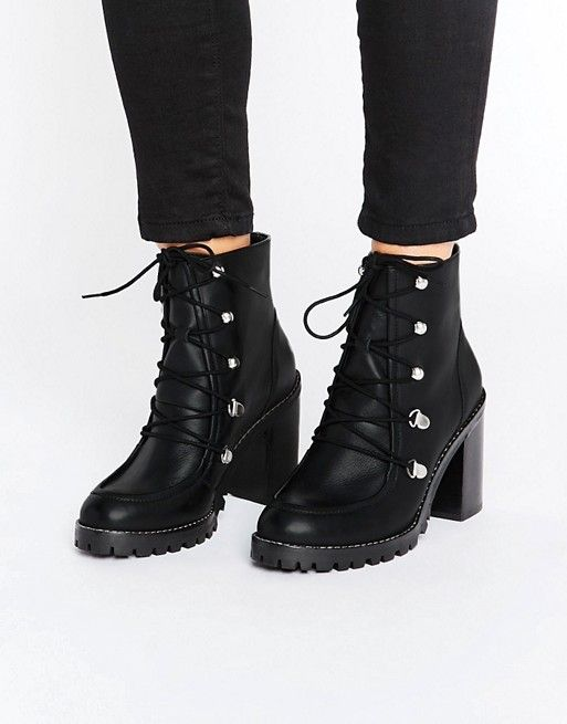 8059ff44657 ASOS EISHA Leather Hiker Boots | Lace up ankle boots | Shoes in 2019 ...