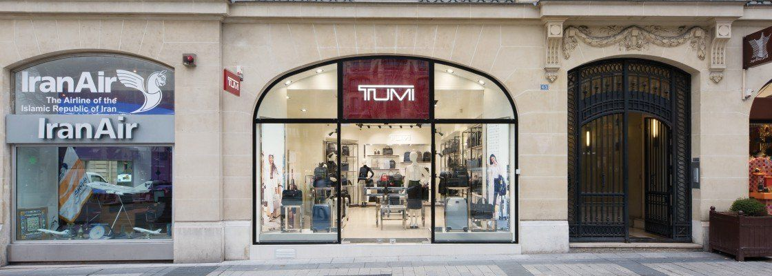 US luxury luggage maker Tumi opened a new flagship store, located at ...
