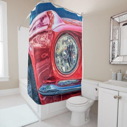 Ford Mustang 67 V8 Shower Curtain Diy Cyo Customize Create Your