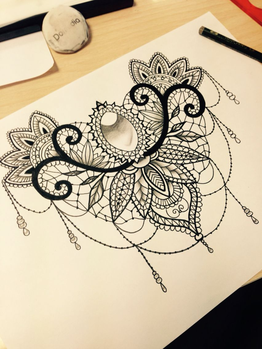 Tattoo ideas for lower back in white with some black shadding on the back of both upper thighs