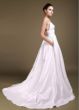 56c79c8b42 Wonderful Taffeta   Tulle A-line Sweetheart With Spaghetti Straps Empire  Waist Wedding Gown