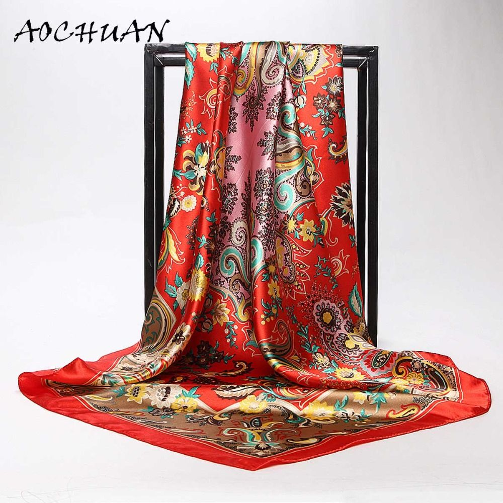Spring Summer Silk Scarf Luxury Brand Female 90*90cm Silk Scarves Painting Printed Summer Beach Cover-ups latest style F11 pool backyard * AliExpress Affiliate's Pin. View the item in details by clicking the VISIT button