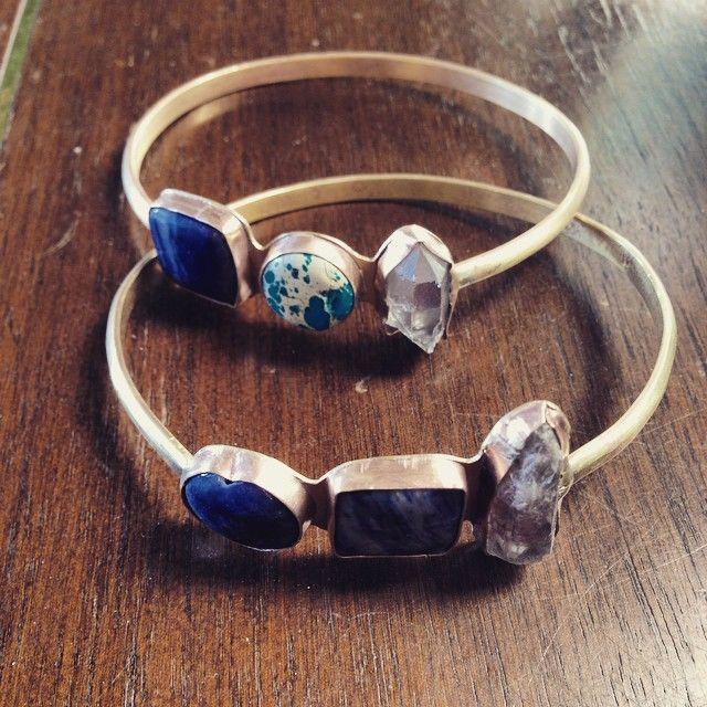 Bezel bangles from Blank Verse Jewelry
