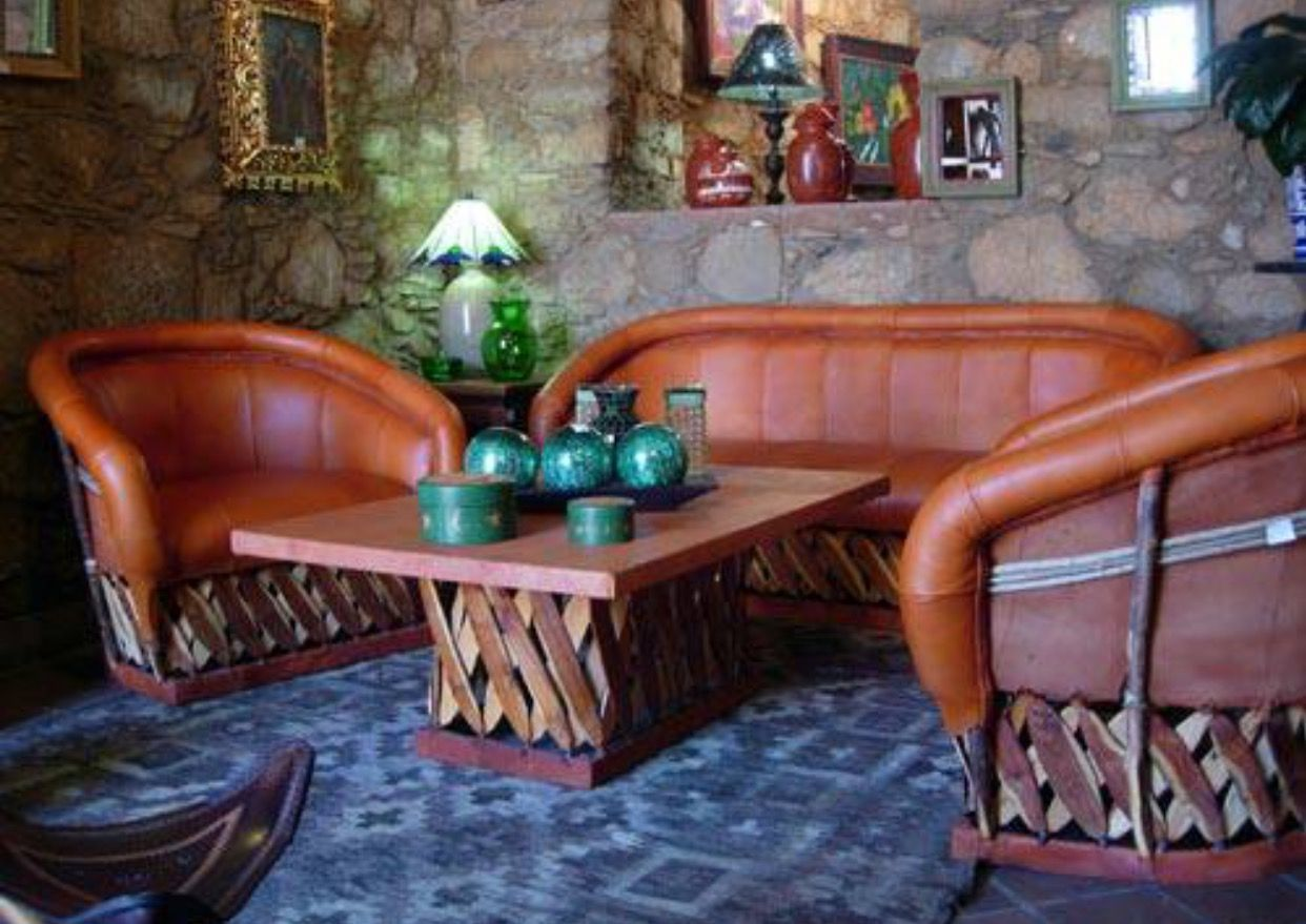 Mexican Style Backyards Mexican Equipale Pigskin Furniture A