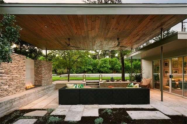 backyard, rockwall, cabana, windows...michael hsu  2604 Pecos Street, Austin, TX 78703 :: 6561766 :: Austin Real Estate :: Homesnap