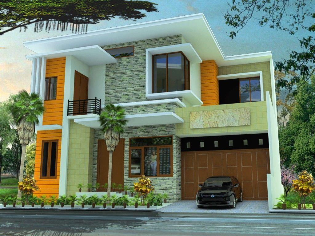 Contoh Desain Rumah Minimalis Modern 2 Lantai Wallpaper Keren