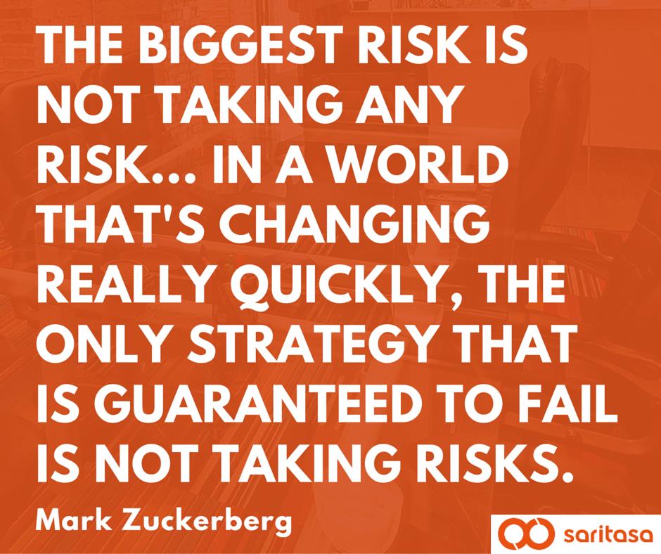 Take risks - even if you fail, you tried. #MondayMotivation