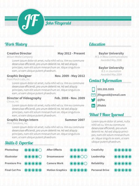 The Sunrise  Resume Template Resume Jobsearch Creativeresume