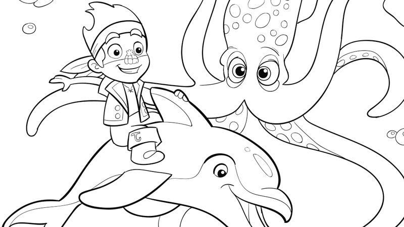 Jake and Mr. Squid | Coloring Pages | Disney Junior | Kolorowanki ...