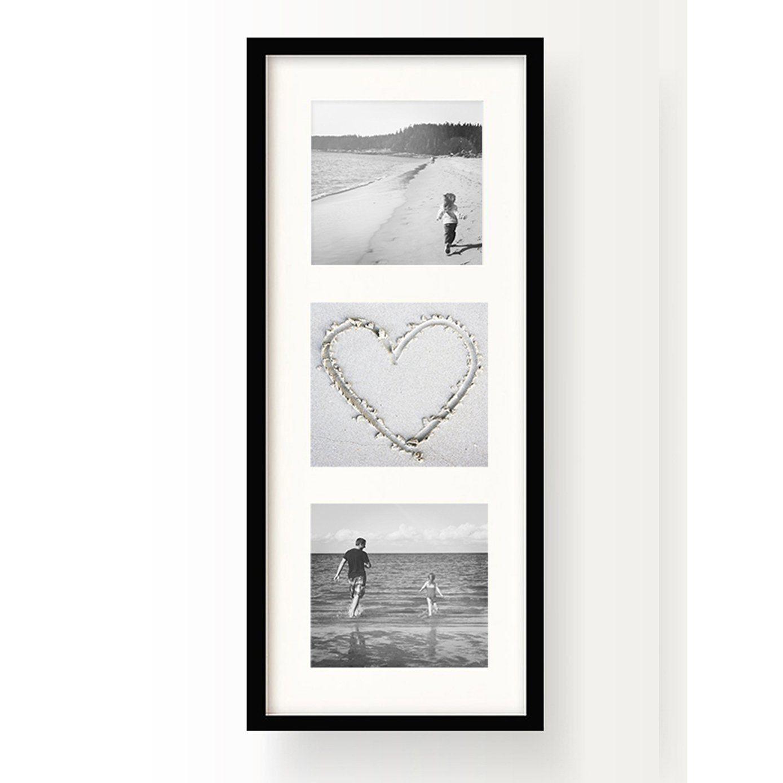 Oxford Black 4x4 Triple Instagram Photo Frame 16x6 Multi With