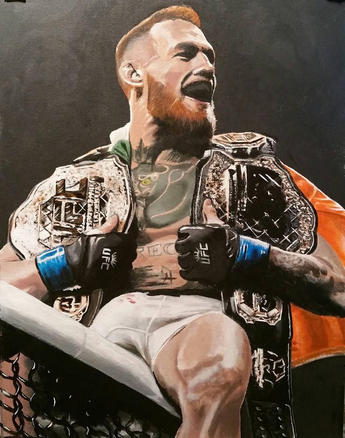 Conor Mcgregor Acrylic On Canvas Mcgregor Wallpapers Conor Mcgregor Wallpaper Conor Mcgregor
