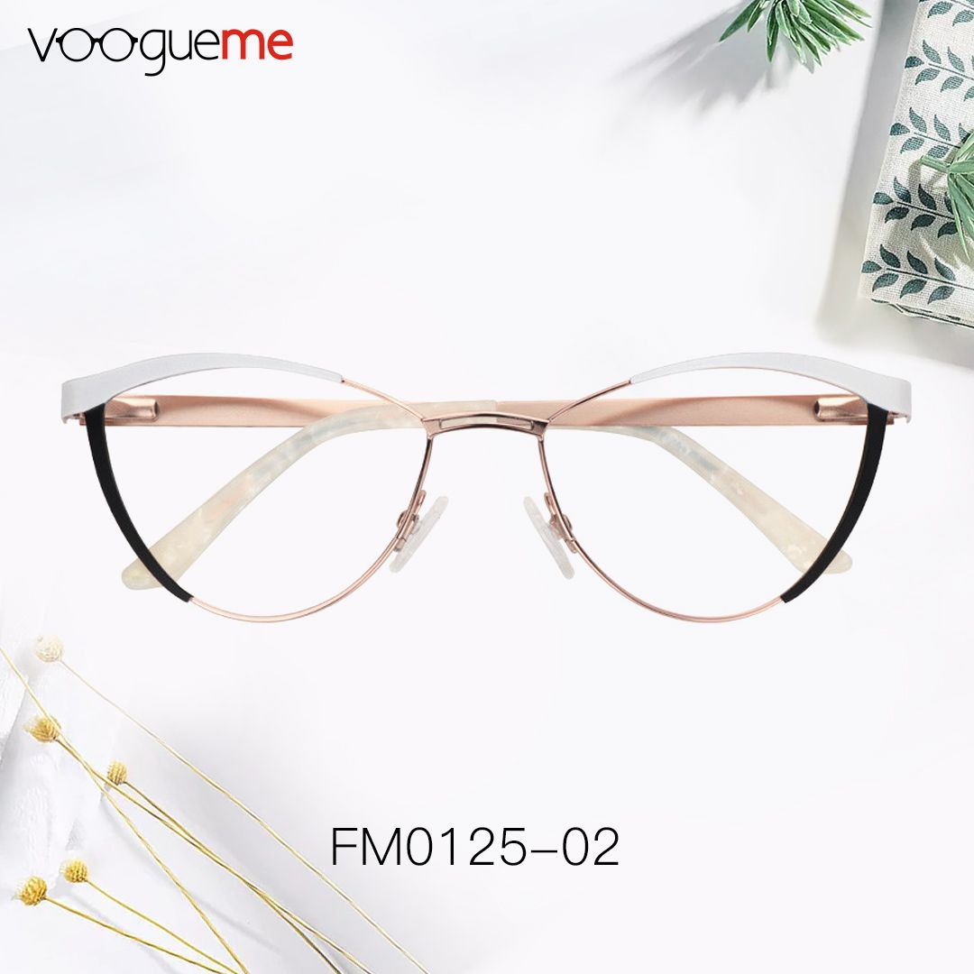 ecb9c493dc Sydney White Cat Eye Glasses Spring hinges and adjustable nose pads provide  a comfortable fit.