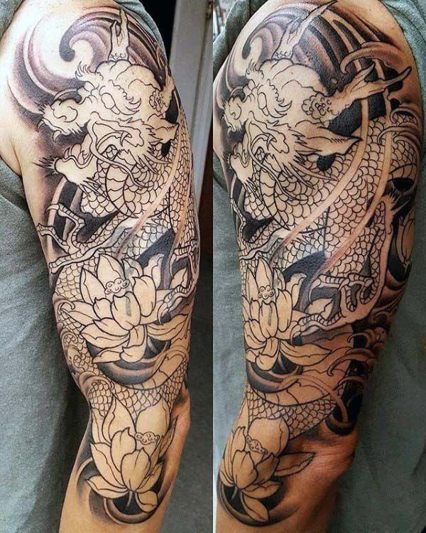 Full Sleeve Tattoo Definition: Half Sleeve Tattoos With Meaning #Halfsleevetattoos