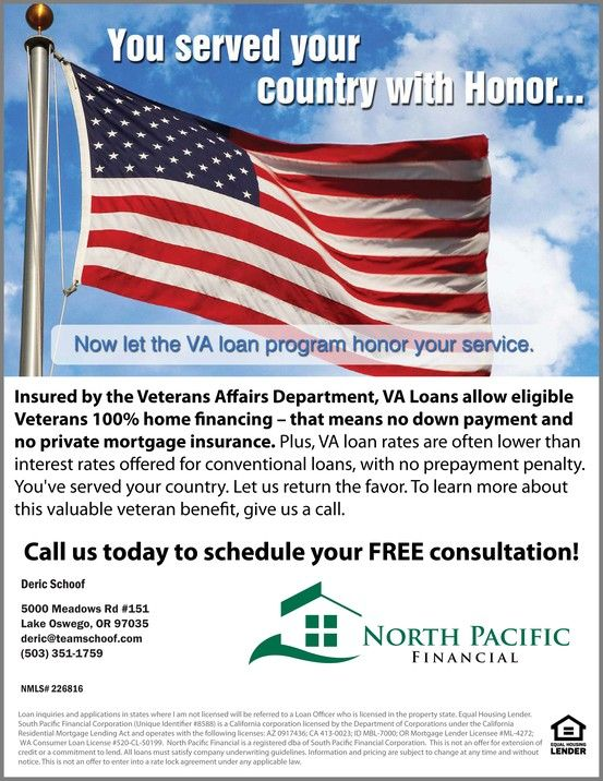 Zero Down No Monthly Mortgage Insurance If You Are A Veteran