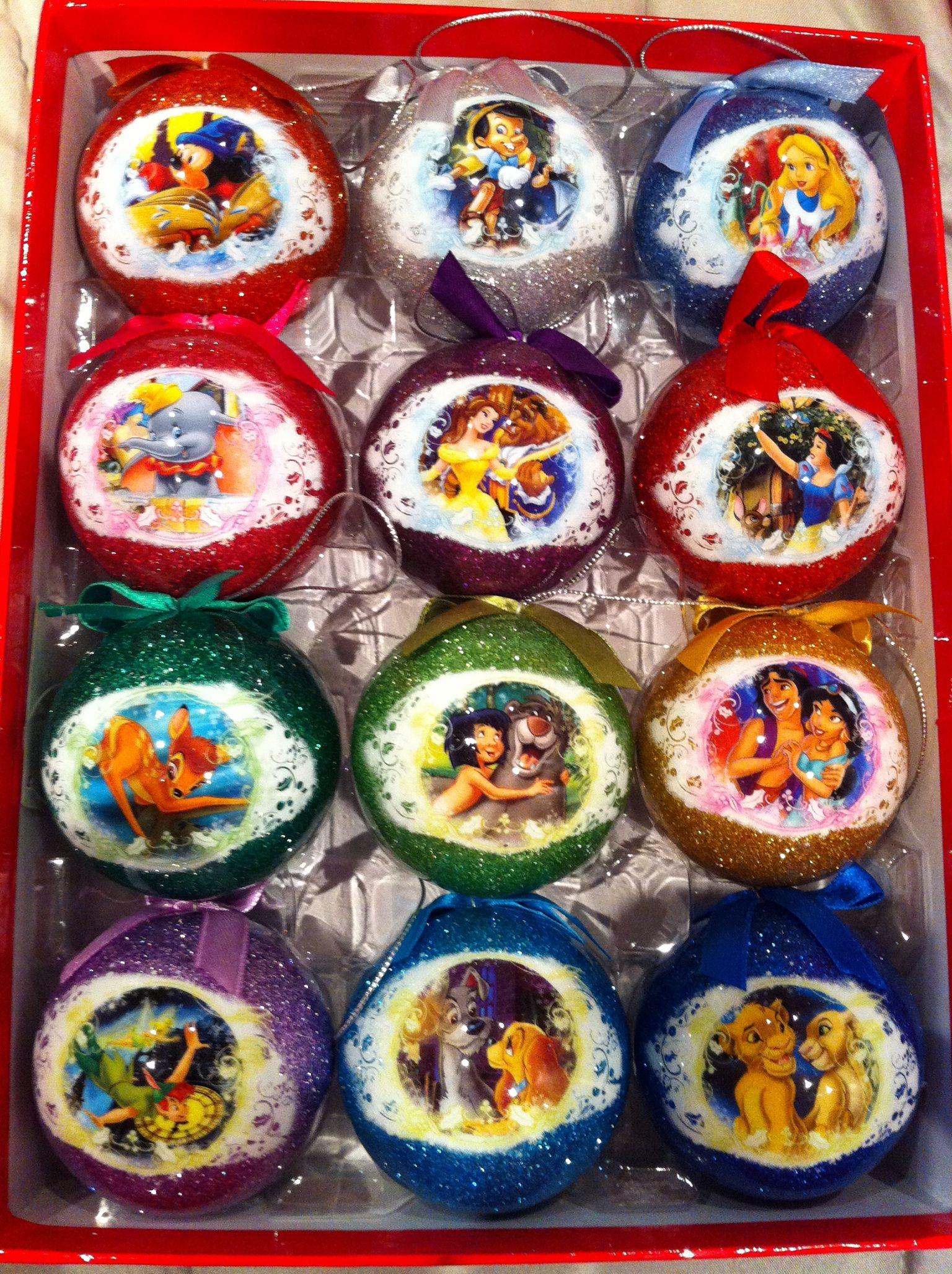 Disney tree ornaments - I Have These On My Disney Christmas Tree