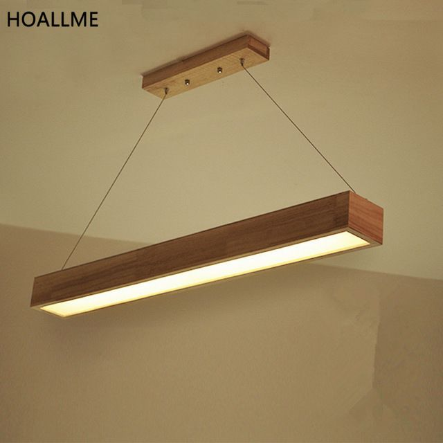 Long Size Rectangle Pendant Light Droplight Fixtures Ing Aydinlatma Elemanlari Avizeler Ahsap Isleme
