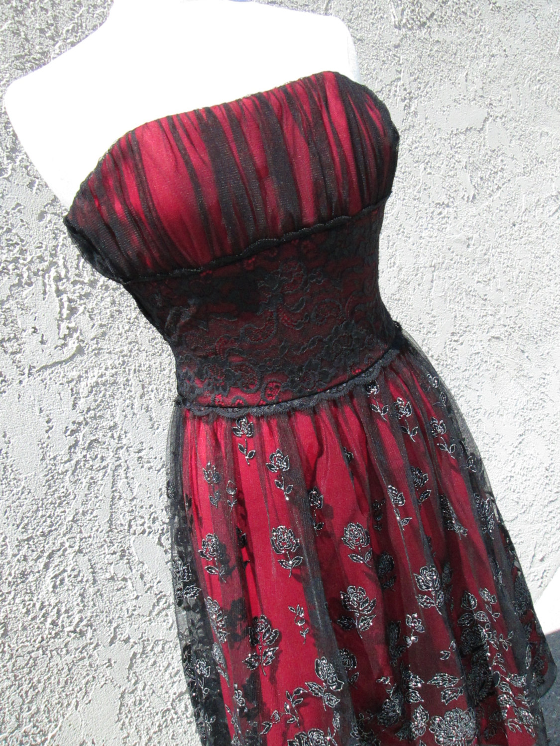 Stunning goth type rocker prom party dress by pattisvintagegalore
