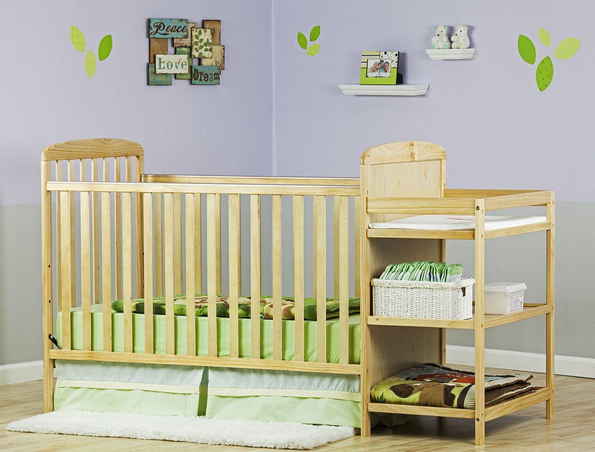 Dream On Me 2-in-1 Convertible Crib Set and Changing Table Combo ...