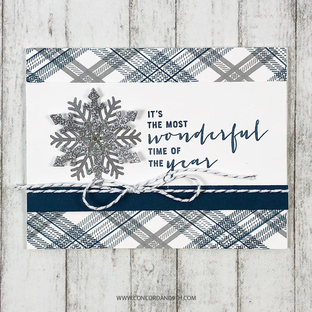 Happy Plaids Holiday labels, Christmas card inspiration