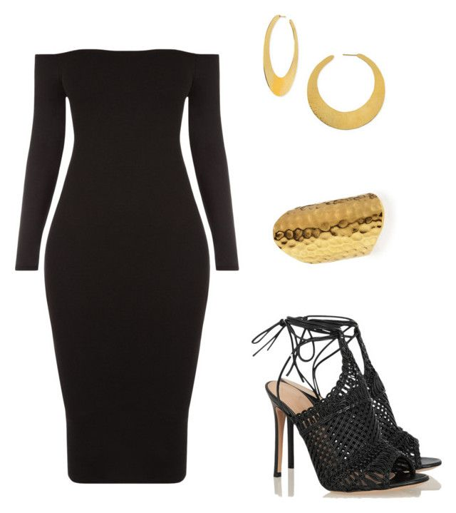 Night out by ars-loves-fashion on Polyvore featuring polyvore fashion style Gianvito Rossi Devon Leigh Hervé Van Der Straeten clothing