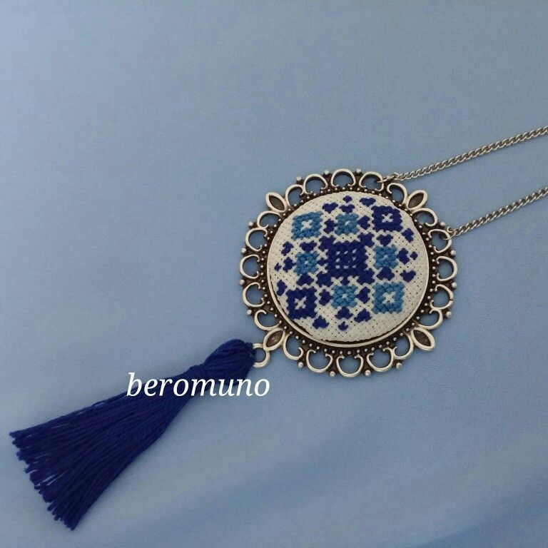 Photo of Cross stitch necklace- Kanaviçe kolyee  Cross stitch necklace   -#briefcaseblac…