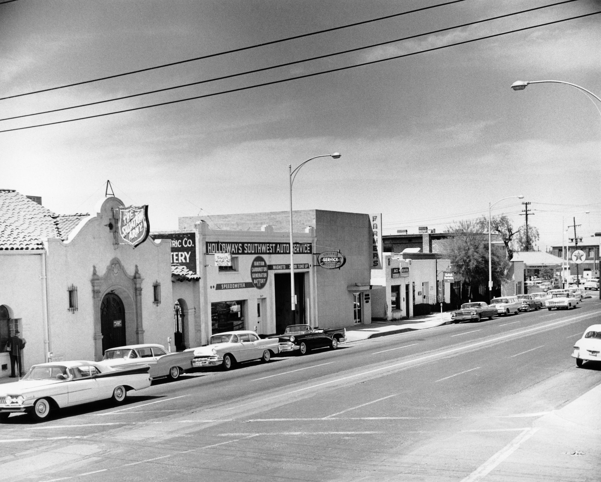 Downtown Tucson buildings in 1960. Holloways Southwest