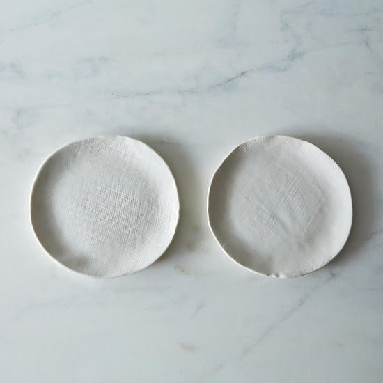 Burlap Textured Dessert Plate Set | Burlap, Tablewares and Porcelain