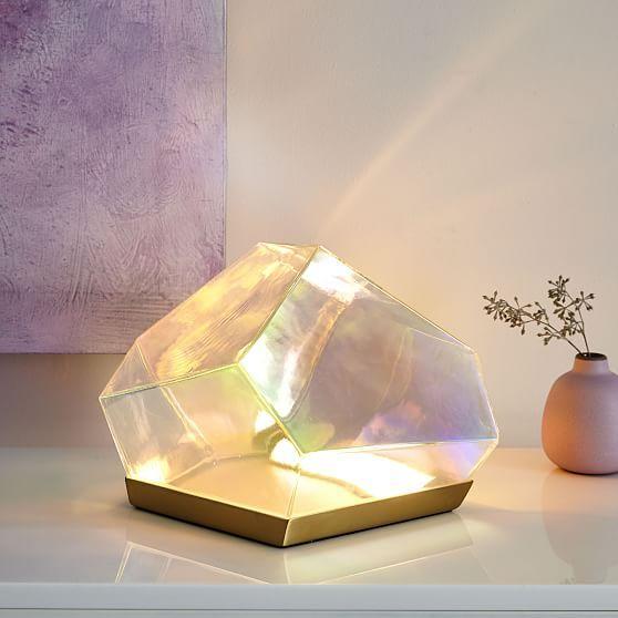 Glass Gem LED Table Lamp | Led table lamp, Modern lamp