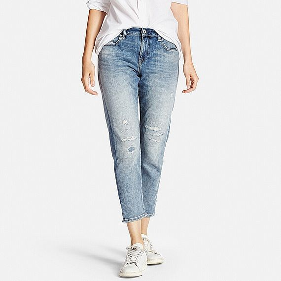Fit Ankle Aw Women JeansNew 2016 Uniqlo Slim Boyfriend Clothes k80nwOP