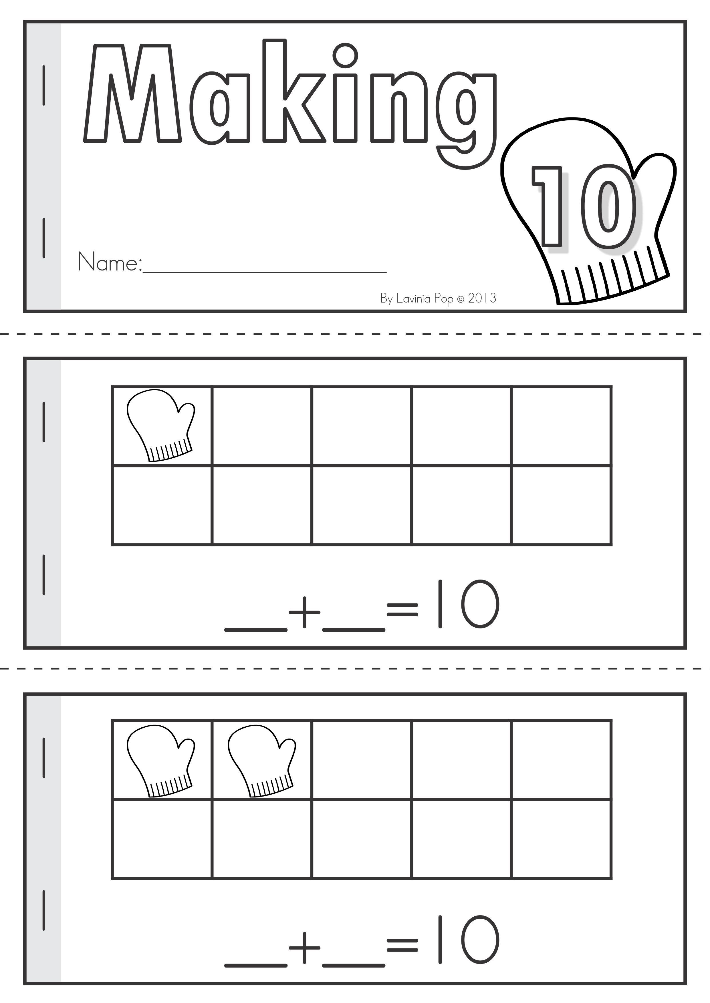 Winter Math Worksheets Activities No Prep For Kindergarten Making 10 Ten Frame Booklet Winter Math Worksheets Literacy Worksheets Math Worksheets Maths literacy worksheets grade 10