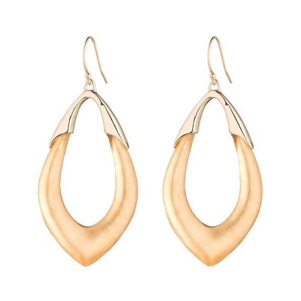 Alexis Bittar Gold Marquis Link Earring ($79) ❤ liked on Polyvore featuring jewelry, earrings, gold, gold earrings, gold tone earrings, yellow gold jewelry, carved jewelry and earrings jewelry