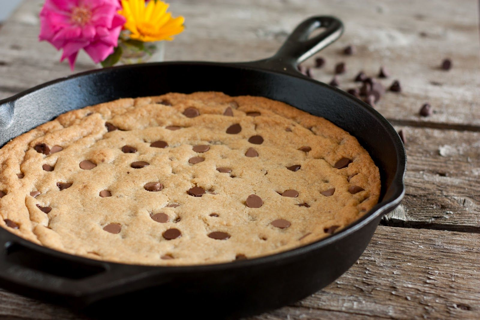 Easy Chocolate Chip Cookie Recipe Skillet Chocolate Chip Cookie