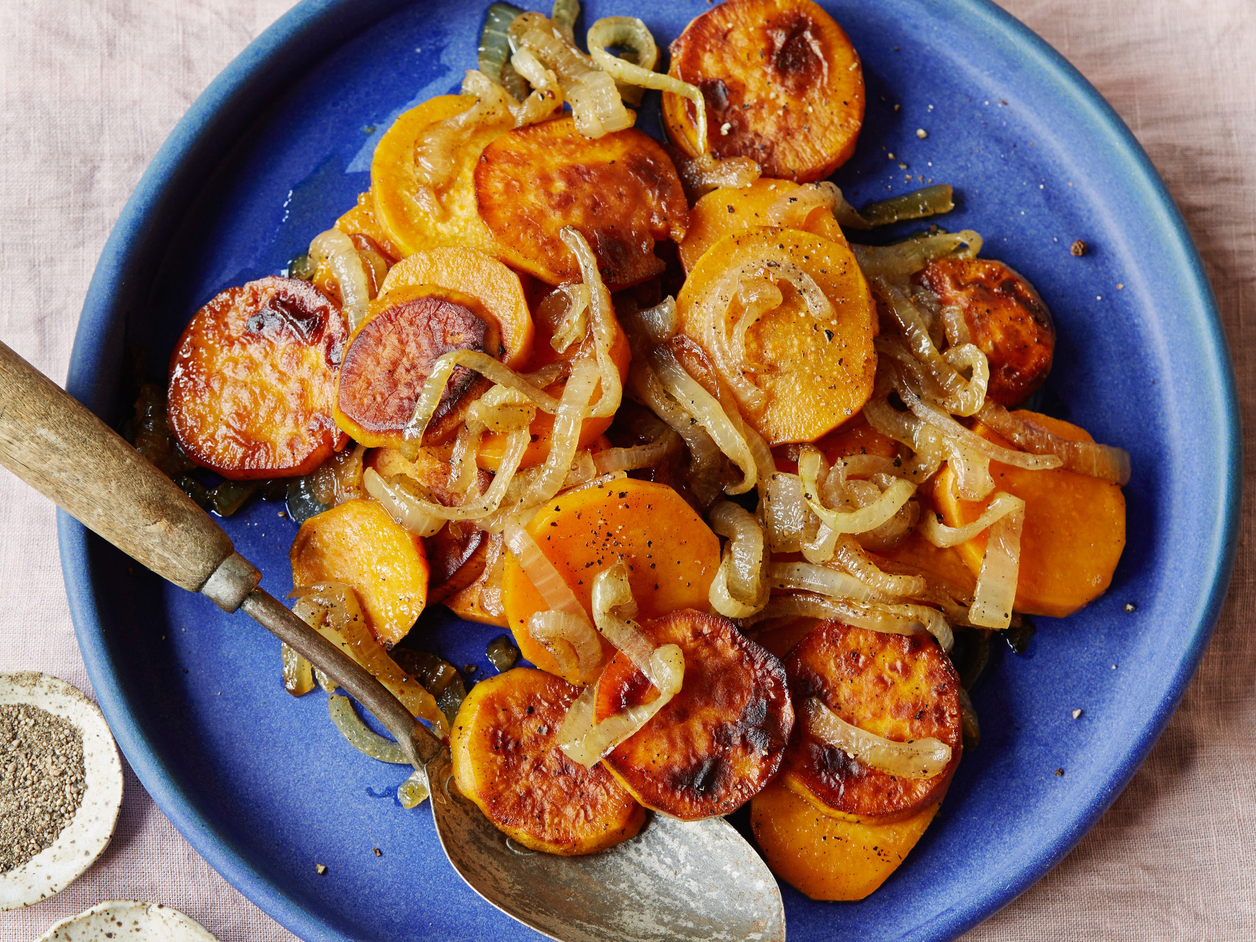 Get this all-star, easy-to-follow Sweet Potato Lyonnaise recipe from Food Network Kitchen