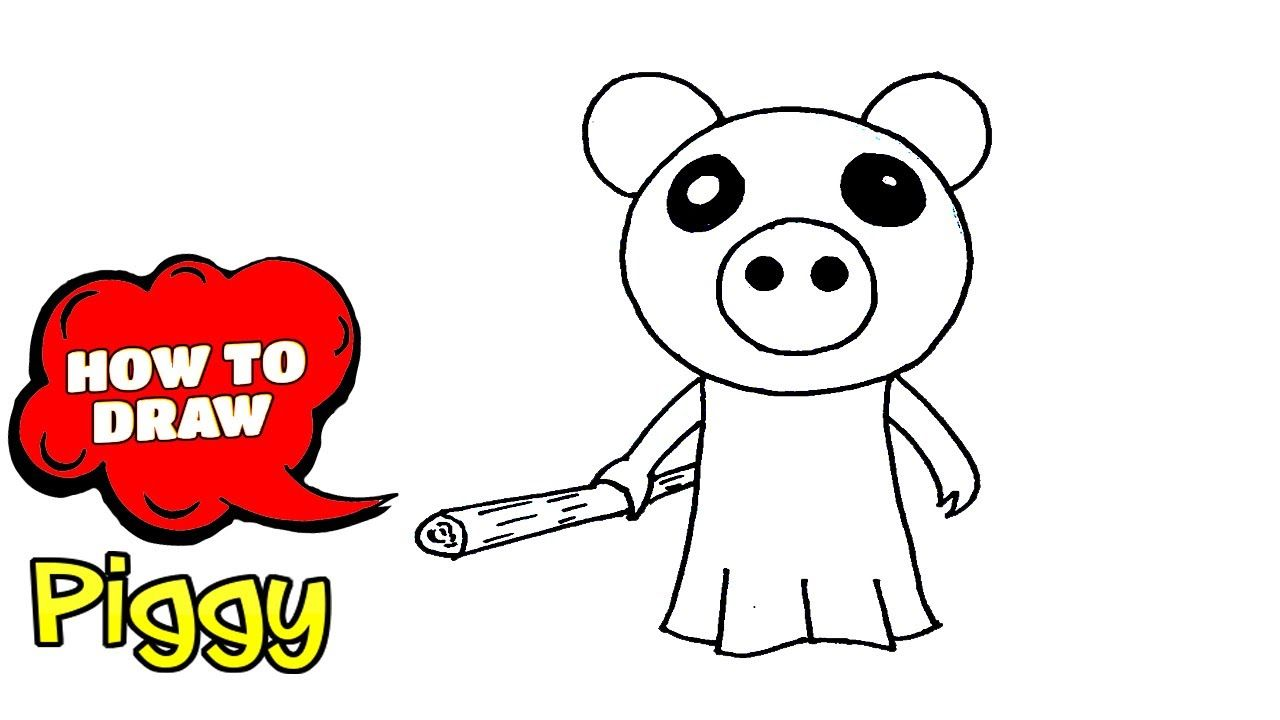 Roblox Drawing Piggy Images Roblox How To Draw Piggy Roblox Easy Drawing With Pen In 2020 Easy