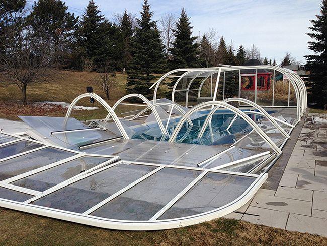 Collapsed Pool Enclosures Pool Enclosures Swimming Pool Enclosures Swimming Pools