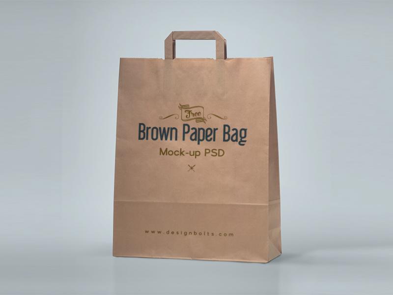 Download Free Brown Paper Shopping Bag Packaging Mock Up Psd Bag Mockup Mockup Free Psd Brown Paper Bag