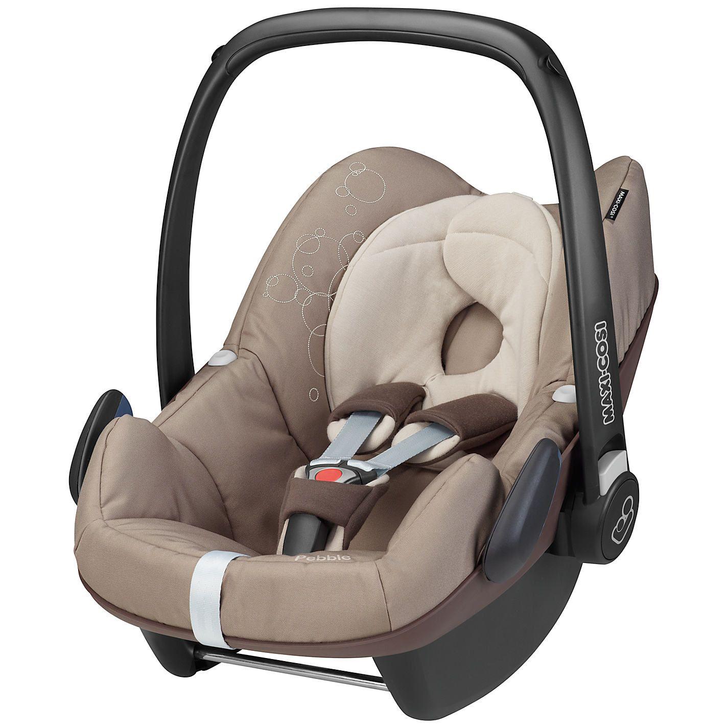 We love our Maxi Cosi Pebble car seat in Walnut Brown